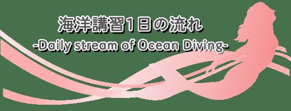 ダイビングショップRIZE|海洋講習一日の流れ