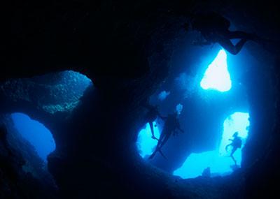 宮古島のダイビング風景1