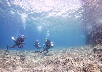 宮古島のダイビング風景2