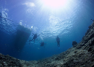 宮古島のダイビング風景3